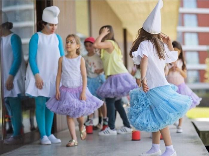 A festa foi temática: 'Os Smurfs'