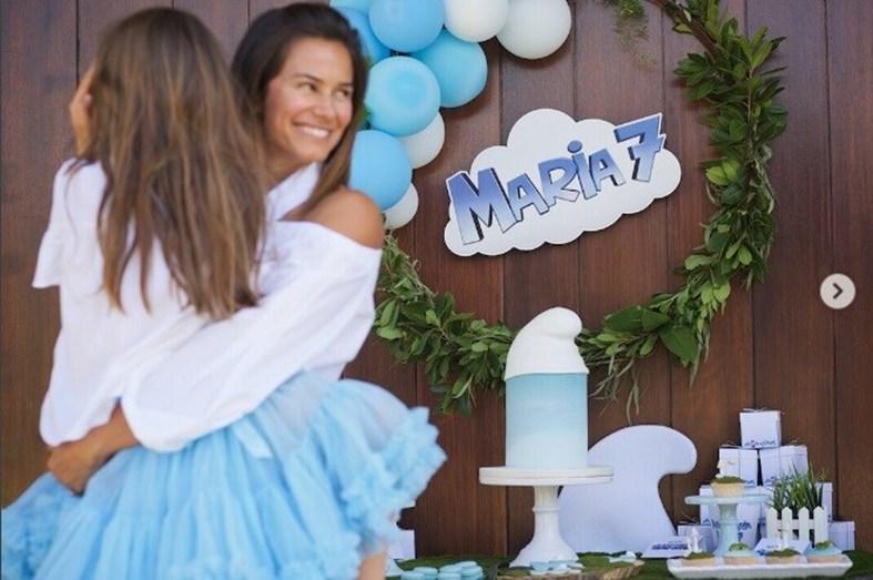 Maria festejou 7 anos