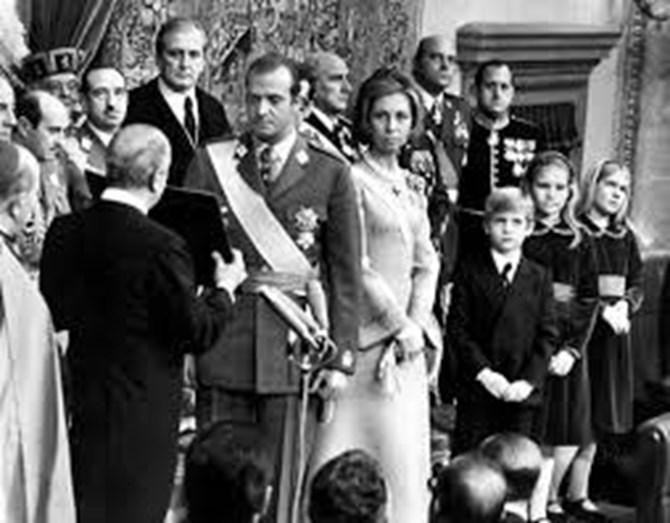 Juan Carlos quando subiu ao trono