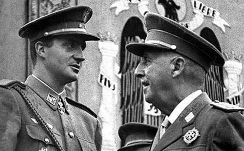 Juan Carlos com o general Franco