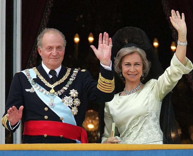 Os reis Juan Carlos e Sofia