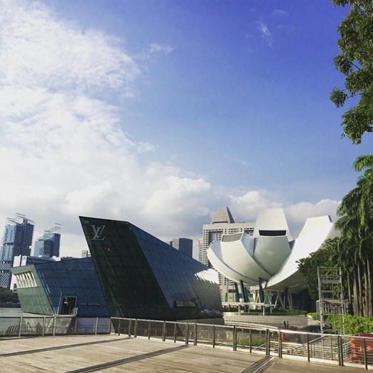 A primeira paragem da apresentadora: Singapura