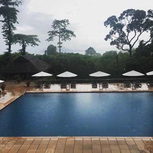 O resort de luxo onde ficou hospedada, em Langkawi