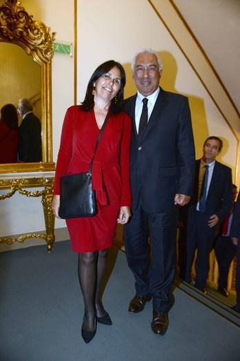 António Costa e a mulher Fernanda Maria Gonçalves Tadeu