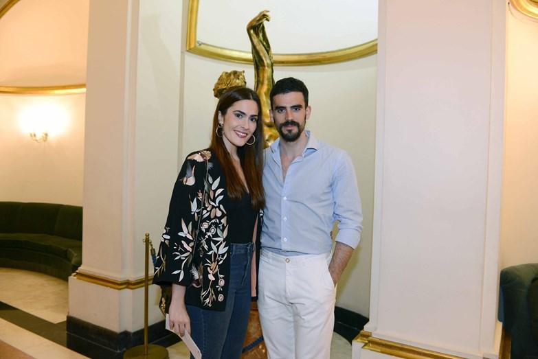 A atriz Inês Gonçalves com o namorado Tomás Tengarrinha