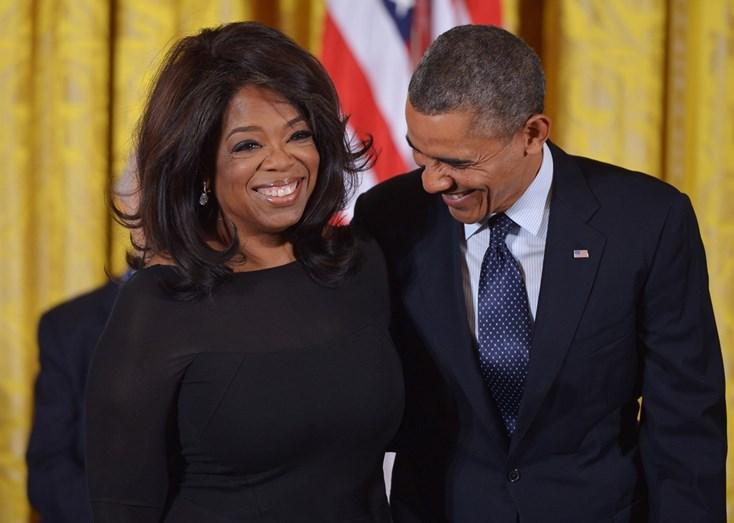 Oprah e Barack Obama