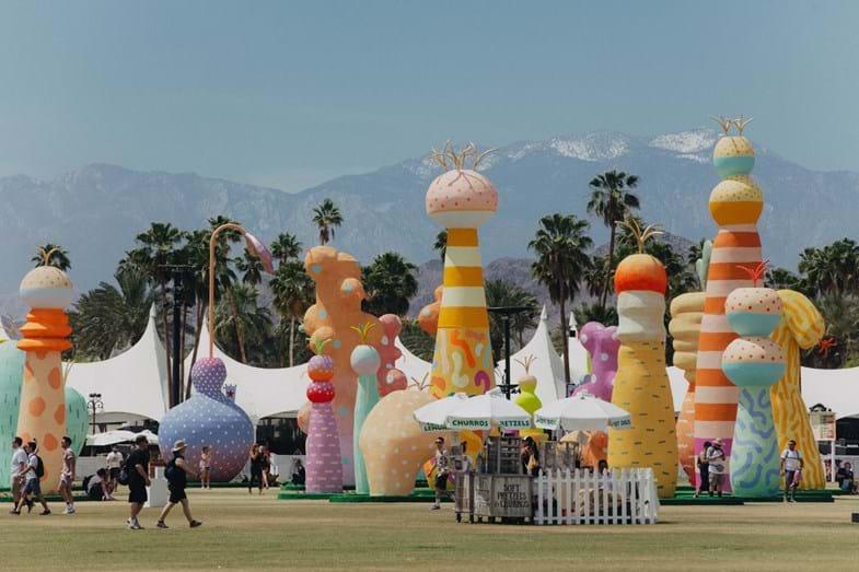 O coachella para além de ser um festival de música, também é um festival de arte