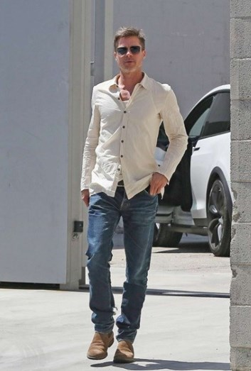 Brad Pitt surge cada vez mais magro