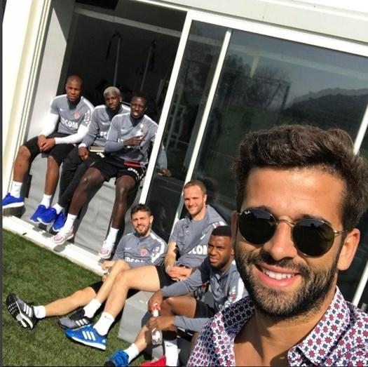 Com a equipa de futebol do Mónaco