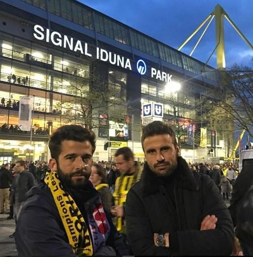 Com Orlando Sá, atualmente jogador do Standard Liège