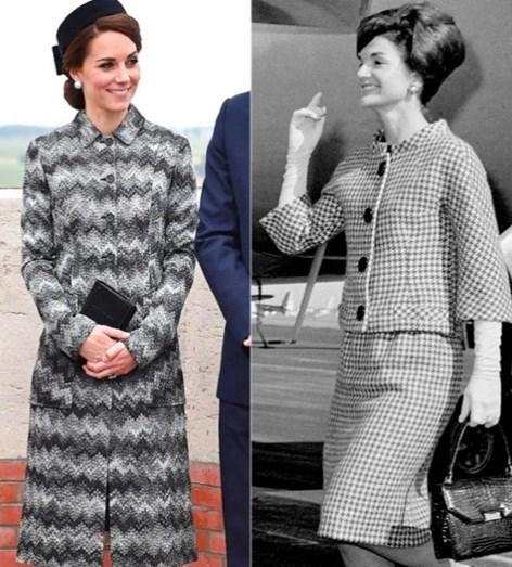 Kate Middleton comparada a ex-primeira-dama dos EUA Jacqeline Kennedy
