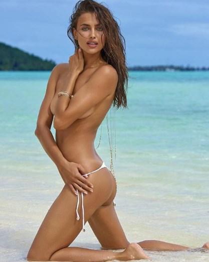 Irina Shayk nunca teve pudor em mostrar o corpo