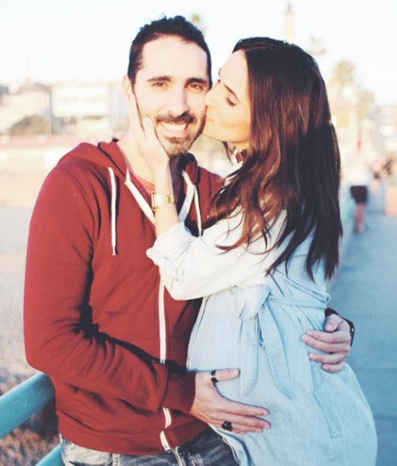 A cantora com o marido Rodrigo Crespo