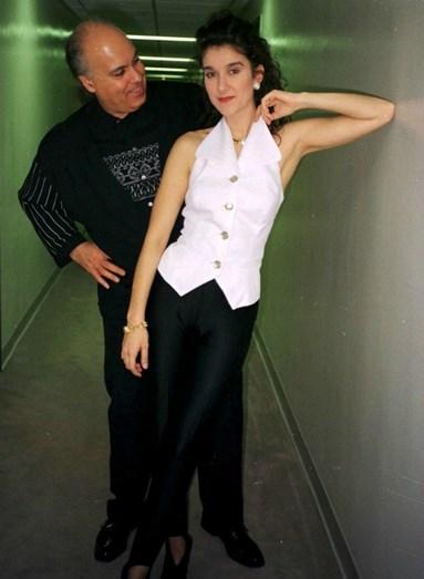 René Angélil e Celine Dion no início da sua relação