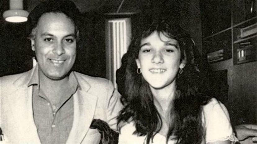 René Angélil e Celine Dion, ainda adolescente