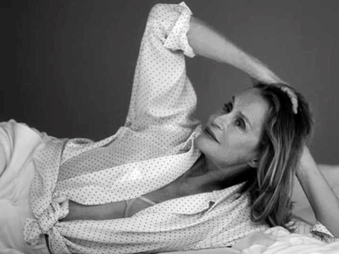 Mais uma imagem de Lauren Hutton para Calvin Klein