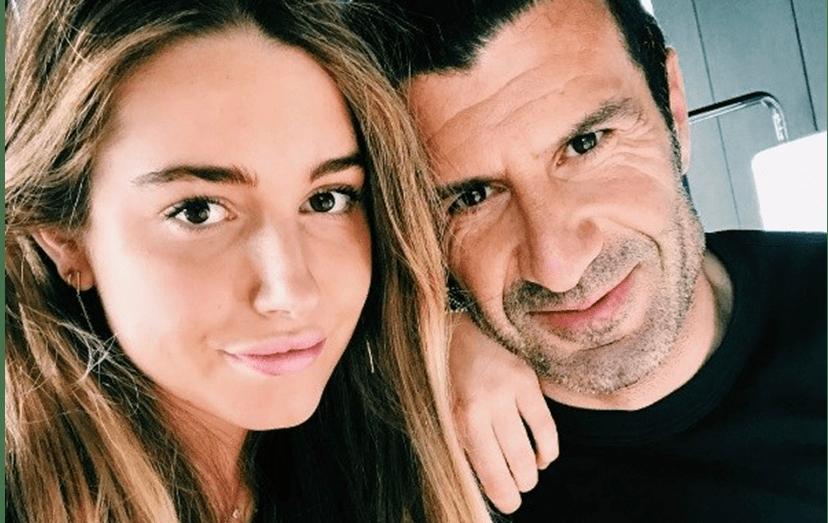 Filha de Luís Figo em escândalo na internet