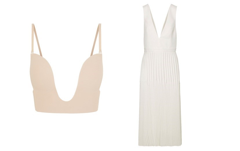 Sutiã Fashion Form, €30, vestido Dion Lee, €1185