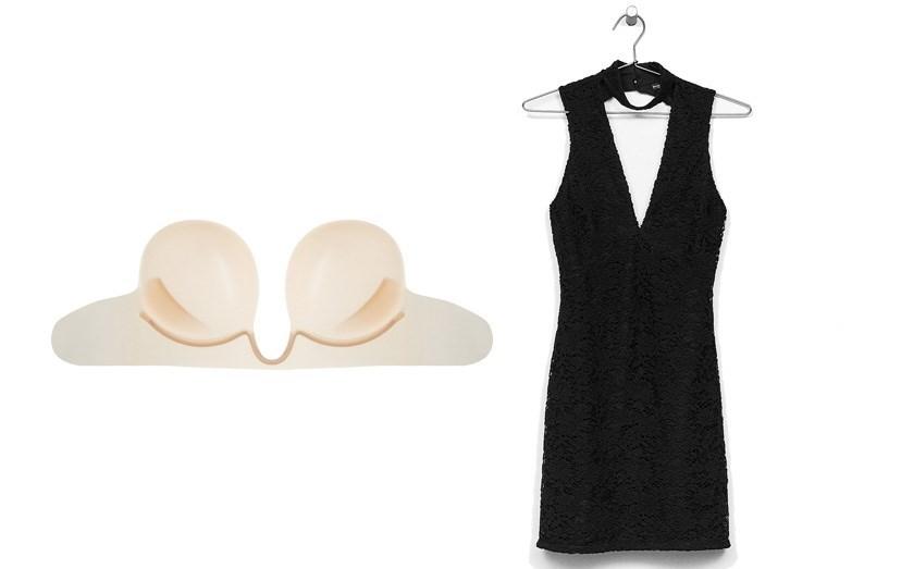 Sutiã Fashion Form, €40, vestido Bershka, €25,99