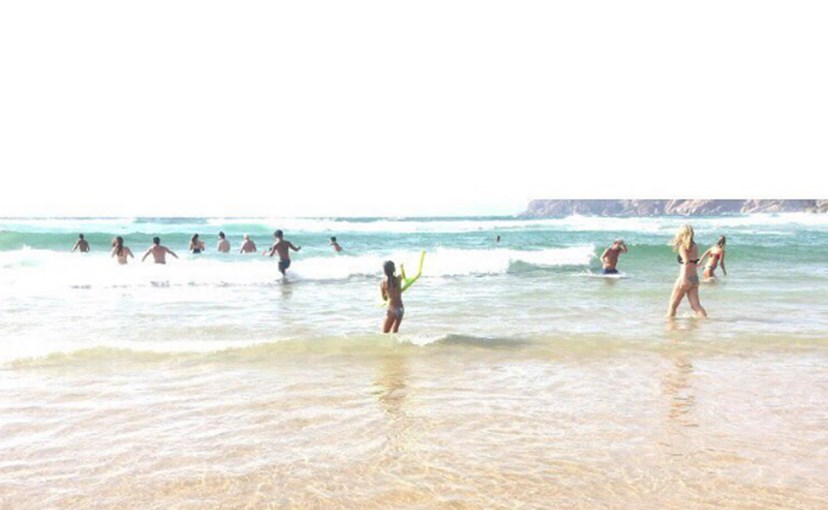 A foto que Luisa Beirão partilhou, na praia