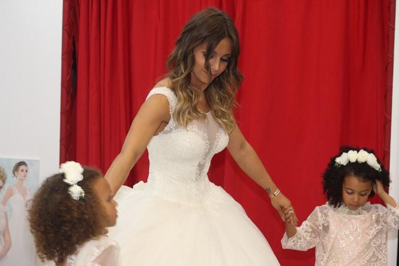 Luciana Abreu com as filhas, Lyonce e Lyane.