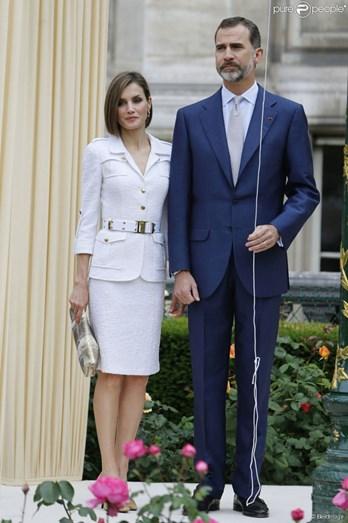 Rainha Letizia de Espanha, em Paris (junho de 2015)