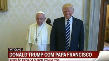 Donald Trump encontra-se com o Papa Francisco
