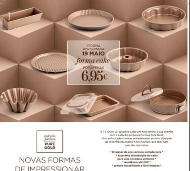 COLEÇÃO DE FORMAS PURE GOLD