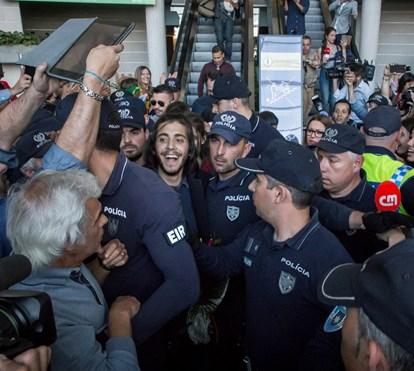 A chegada triunfal de Salvador Sobral a Lisboa