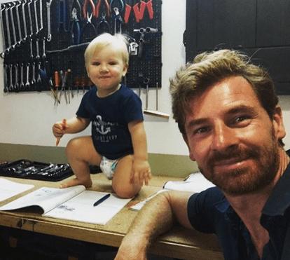 Treinador André Villas-Boas celebra aniversário do filho