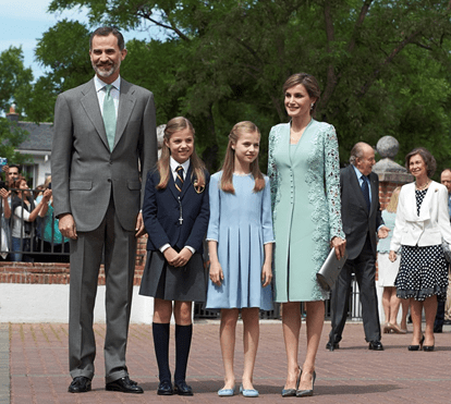 As primeiras imagens da comunhão da infanta Sofia