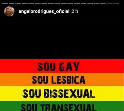 Ângelo Rodrigues defende direitos dos homossexuais