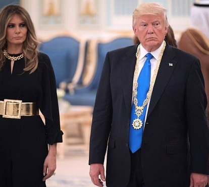 Melania Trump embaraça presidente americano