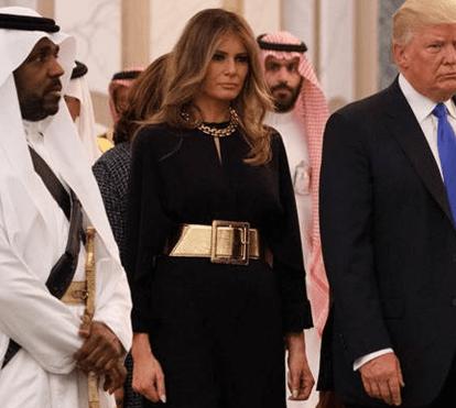 Melania Trump: visuais conservadores mas sem cobrir a cabeça