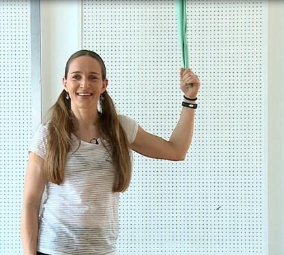 Semana 4, exercício 2 : dorsal com ajuda de banda elástica