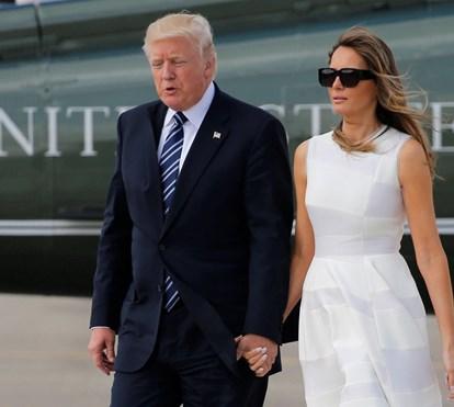 Melania Trump acusada de trair Donald Trump com segurança