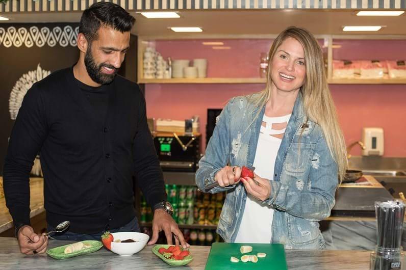 Suzana Werner abre negócio de açaí em Lisboa... com cores do Benfica