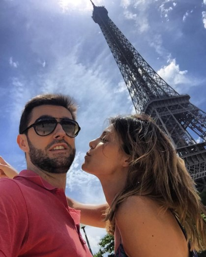 As férias do casal a Paris