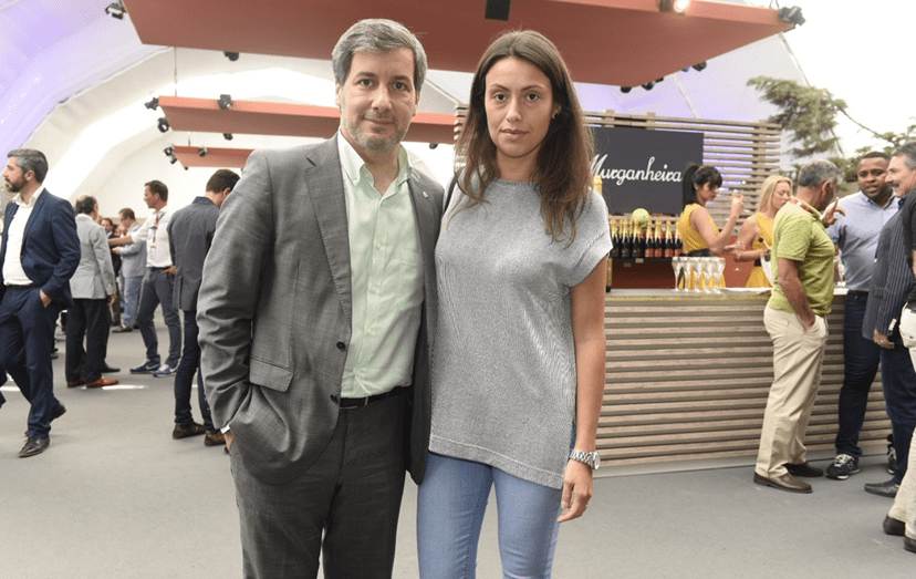Bruno de Carvalho e Joana Ornelas no Estoril Open