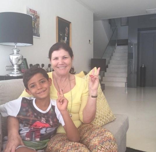 Dolores com o neto Cristianinho