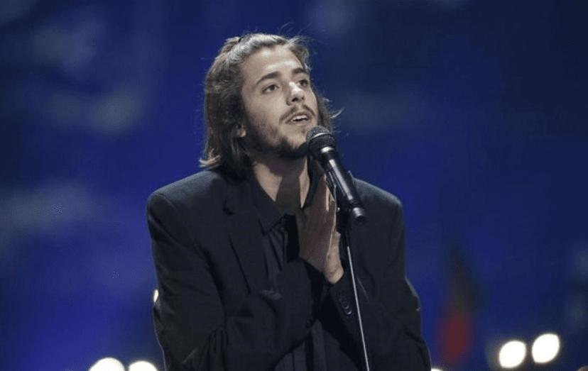 Salvador Sobral na semi-final do festival da Eurovisão