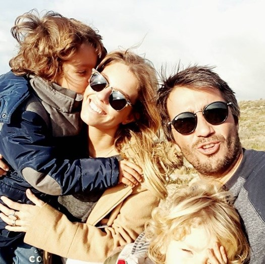 Pimpinha Jardim com Francisco e os filhos