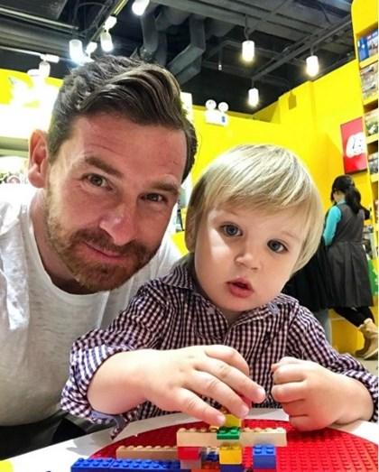 André Villas-Boas e o filho mais novo Francisco