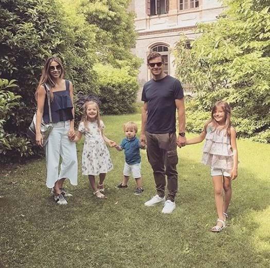 André Villas-Boas com a companheira Joana e os filhos, Benedita, Carolina e Francisco