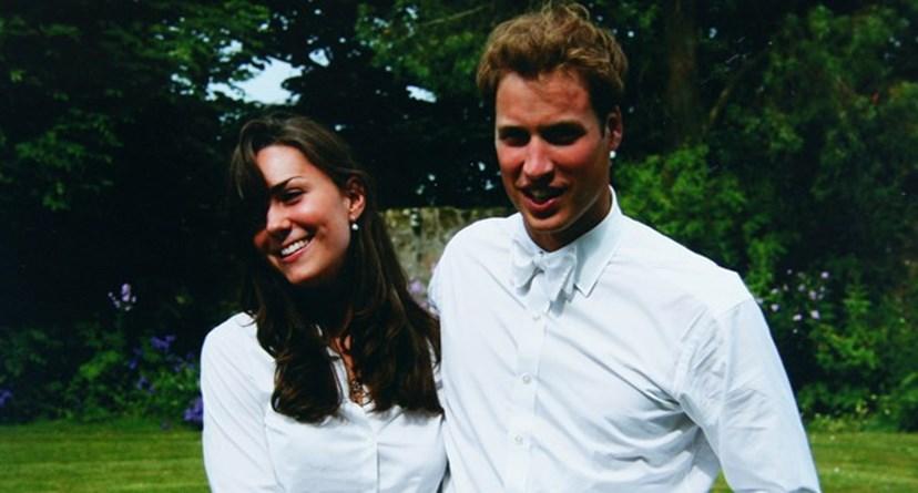 William e Kate quando eram mais novos