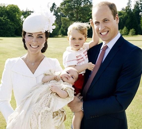 Uma fotografia de família quando Charlotte ainda era recém-nascida