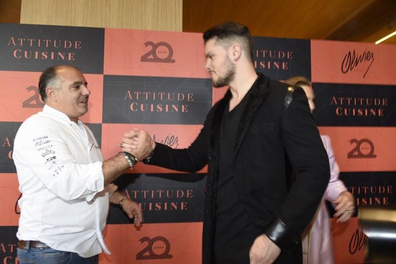 Mickael Carreira com o chef.