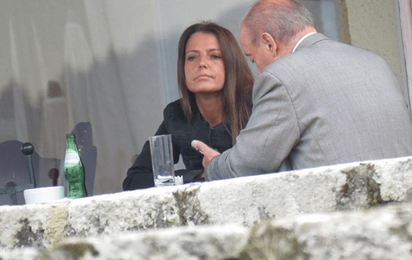Pinto da Costa com a namorada Sílvia Costa