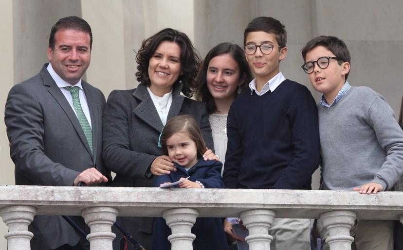 Assunção Cristas devota em família