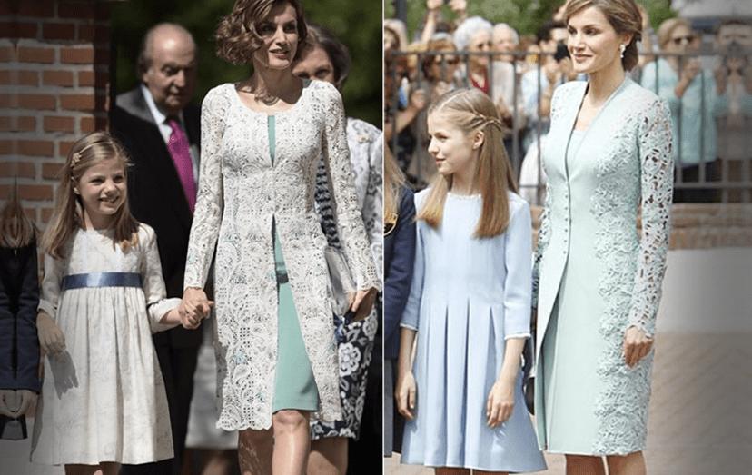 Rainha Letizia em 2015 e hoje, dia 17 de maio de 2017